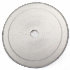 "6""inch Notched Diamond Lapidary Slab Saw Blade Arbor Hole 25mm With Bushing 5/8"""