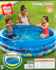 Kids Inflatable Pool Play Day 5.5Ft ,Summer Fun,Toddler Swimming Round Pool New