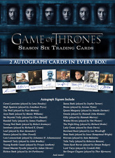 2017 Game Of Thrones Season 6 Factory Sealed Trading Cards Case (12 Boxes)