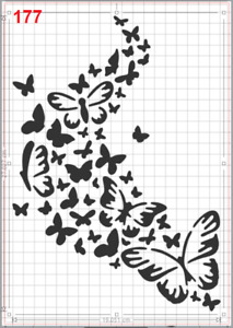Butterfly Flying Together Stencil MYLAR A4 sheet strong reusable art craft deco
