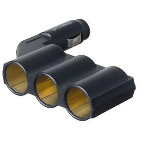Enercell 1 to 3 Car Cigarette Lighter Socket DC Power Adapter Splitter