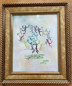 MAX KARP ENAMEL ON COPPER Picasso la ronde The Dance Of The Youth Art Painting
