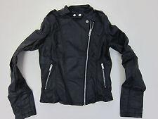 Boohoo Torah Faux Leather Biker Jacket - Womens Medium - Black - NWT