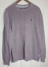 St George by Duffer Men's Brown/Red (Maroon) Long sleeve Jumper Pullover Size L