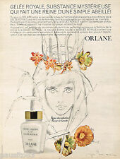 PUBLICITE ADVERTISING 055  1966  ORLANE  cosmétiques GELEE ROYALE