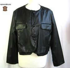 VANESSA BRUNO - JACKET LONG SLEEVES LEATHER LAMB PLUNGES TAILLE 40 - LIKE NEW