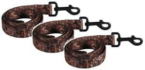 "(3 Pack) Remington Mossy Duck Blind Camo Single Ply Nylon Dog Leash - 6' X 1"""