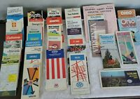 LOT OF 34 VINTAGE ROAD MAPS AND TRAVEL GUIDES