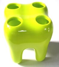 1 pcs GREEN TOOTH SHAPE TOOTHBRUSH TOOTHPASTE HOLDER BATHROOM
