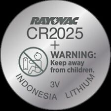 Rayovac CR2025 Lithium Battery  3 Volt 1 Pack KECR2025-1