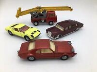 4 Vintage Corgi Toys No 247 Mercedes, 276 Oldsmobile, 342 Lamborghini, & 64 Jeep