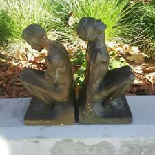 Randolph Johnston Nude Male Sculpture Bookends Dated 1925 Gay Interest Art Deco