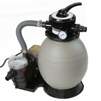 """2640 GPH Self Priming Swimming Pool Pump w/ Timer 13"""" Sand Filter Above Ground"""