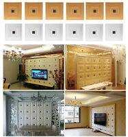 Removable PE Foam 3D Adhesive Wall Sticker Anti-Collision Home Room Panels Decor