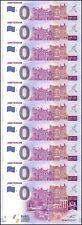 Zero (0) Euro Europe X 10 Pieces (PCS), 2017, UNC, Amsterdam,Netherlands Limited