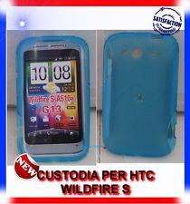 Custodia+Pellicola EYE-BLUE per HTC WILDFIRE S G13