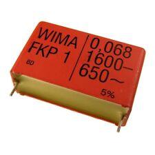 Wima fkp1 polipropileno diapositivas-condensador FKP 1 1600v 0,068uf 5% 37,5mm 024086