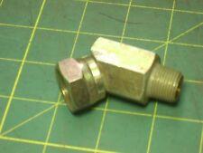 """New listing Hydraulic Fitting 9355 X 8 X 6, 45 Elbow 1/2"""" Npsm Female X 3/8"""" Npt Male #51319"""