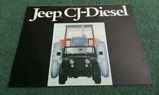 1980 Jeep CJ5 CJ6 CJ7 CJ-5 CJ-6 CJ-7 diesel-couleur dossier de brochure