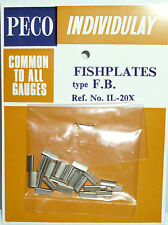 PECO IL-20X Pack of 25 x Scale Size Fishplates For Code 100 4mm Flat Bottom Rail