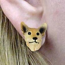 Australian Cattle Dog Cattledog Red Tiny One Dog Head Post Earrings Jewelry