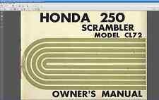 Honda CL72 250 Scrambler Owners Manual PDF Driver's Maintenance