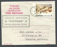 """CANADA MILITARY FORCES AIR LETTER CFPO CANCEL """"5005"""""""