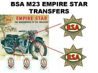 BSA M23 Transfers Decals Set DBSA156 Classic Motorcycle