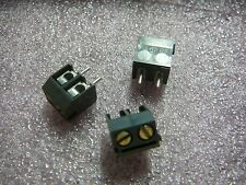 WECO Screw Connector 2-Position 5mm Euro Style Terminal Block **NEW** Qty.3