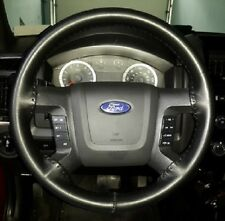 Wheelskins Solid Black Leather Steering Wheel Cover 2004-2011 Ford F150