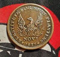 1837 Hard Times Angry Eagle Anarchy Payments Merchant Store Card Patriot Token