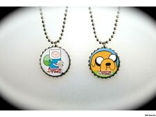 Adventure Time Fin and Jake  -  2 sided necklace