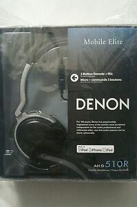 "Denon AH-D510R ""Mobile Elite"" Ocer-Ear Headphones with 3-Button Remote + Mic"