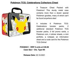 More details for pokemon tcg: celebrations collectors chest - 25th anniversary - pre-order✅