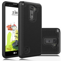 For LG Stylo 2 Plus /MS550 ,Hybrid Rugged Rubber Shockproof TPU soft Case Cover