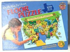 Master Pieces Puzzle Place First Map Of USA 100 Giant Pieces (2x3 Feet) America