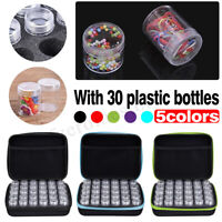 30 Slots Diamond Painting Accessories Embroidery Box w/ Case Holder         UK