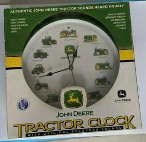 John Deere Tractor Clock with Recorded TRACTOR SOUNDS NIB