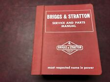 VINTAGE BRIGGS AND STRATTON SERVICE AND PARTS MANUAL MS-4344 REALLY COOL