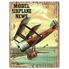 PP0308 Vintage Model Airplane Plate Sign Shop Store Cafe Restaurant Wall Decor