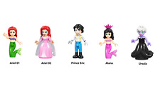 The Little Mermaid Minifigures Set - Disney Princess - Ariel,Eric,Alana,Ursula
