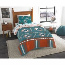 Miami Dolphins Nfl Twin 4 Piece Comforter Bedding Team Logo Bed in Bag Set