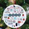 2020 Pandemic Annual Events Quarantine Christmas Ornament Creative Xmas Decor UK