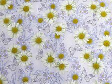 Daisies & Butterflies He Still Loves Me Floral Benartex Fabric #3010 By the Yard