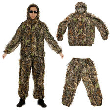 LEAF GHILLIE SUIT WOODLAND CAMO CAMOUFLAGE CLOTHING 3D JUNGLE HUNTING OUTFITS