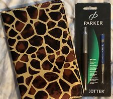 Giraffe Waitress Organizer & Matching Brown Parker Pen