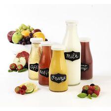Giles & Posner 5pc Breakfast Glass Milk Bottle Glassware Storage Canister Set