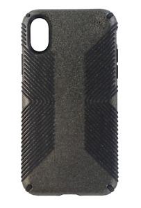 Speck Presidio Grip Glitter Series Case for Apple iPhone X Black Glitter