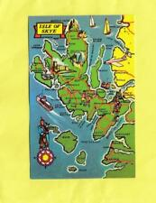 ISLE  OF    SKYE  POSTCARD MAP  .    Scotland ( S92 )
