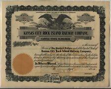 Kansas City Rock Island Railway Company Stock Certificate Missouri